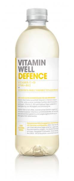 Vitamin Well DEFENCE   gesundes Erfrischungsgetränk